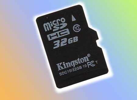 kingston micro SD class 10  32 GB