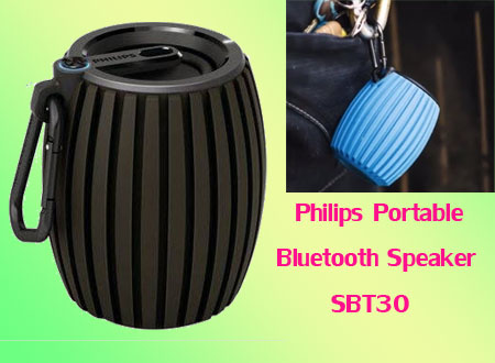 Philips Portable Bluetooth Speaker SBT30-2