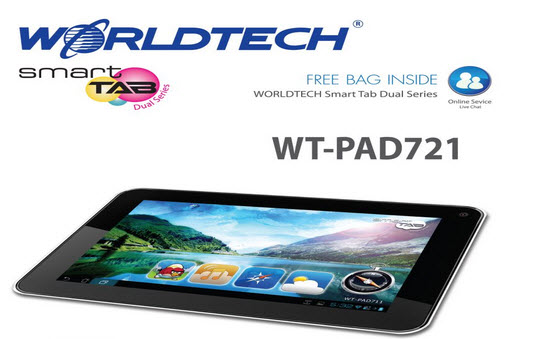 Worldtech Smart Tab Dual Series - รุ่น WT-PAD721-2