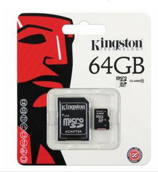 Kingston Micro SD CArd   Class 10 64GB ราคาถูก